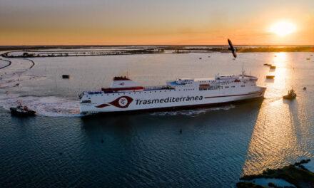 """Primeras pruebas de mar del ferry """"Ciudad de Valencia"""""""