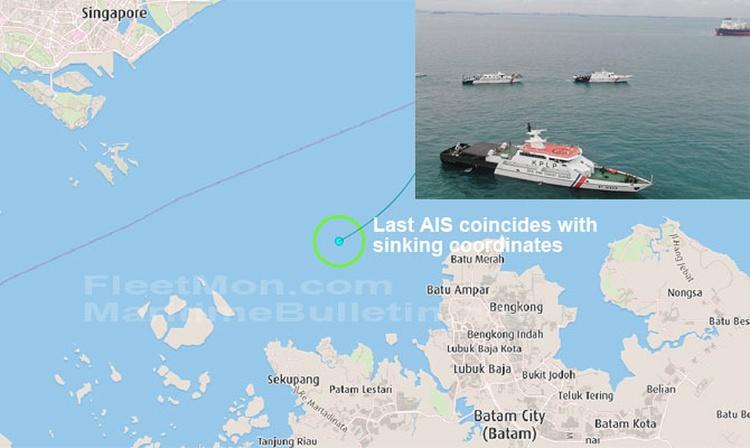 Remolcador se hundió en el Estrecho de Singapur