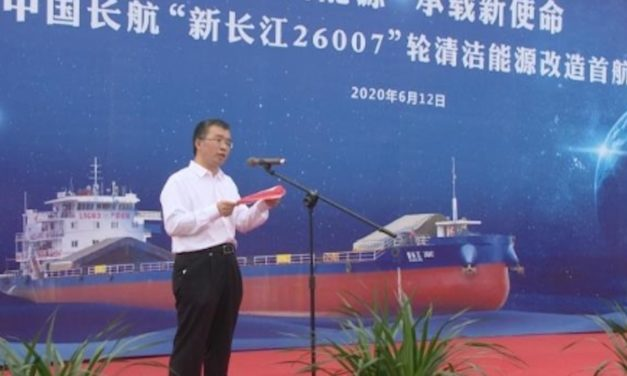Shanghai Changjiang Shipping lanza el primer buque de GNL de doble combustible