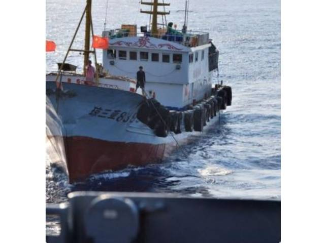 Un buque chino embiste un barco pesquero vietnamita en el Mar de China Meridional