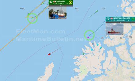 ACTUALIZACIÓN: Carguero alemán inutilizado en el mar noruego esperando remolcador