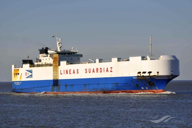 """El buque """"Gran Canaria Car"""", en la antesala del desguace"""