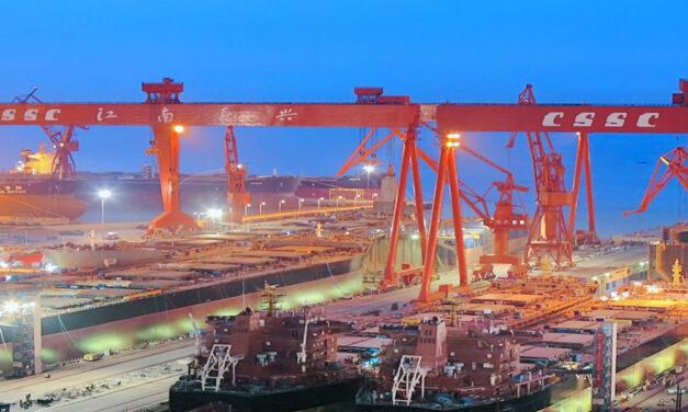 El volumen de la construcción naval china cayó un 10,6% en el primer semestre de 2020