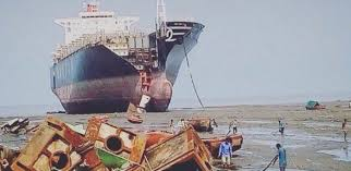 Se implementa el «aislamiento de un buque» en el astillero de desguace de Alang por coronavirus