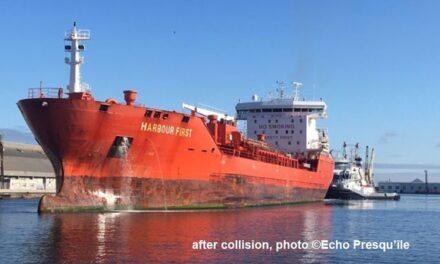 Un buque quimiquero impactó con el puente al entrar en Saint-Nazaire