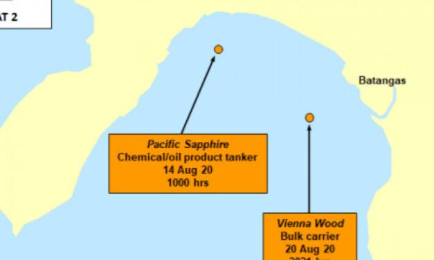 Advertencia sobre los ataques a los buques en Batangas