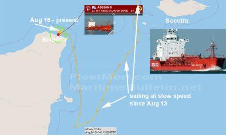Buque tanque de los EAU presuntamente secuestrado por piratas en aguas de Somalia, situación poco clara