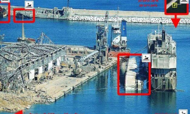 """El buque establo """"Abou Karim I"""" se hunde en el puerto de Beirut"""