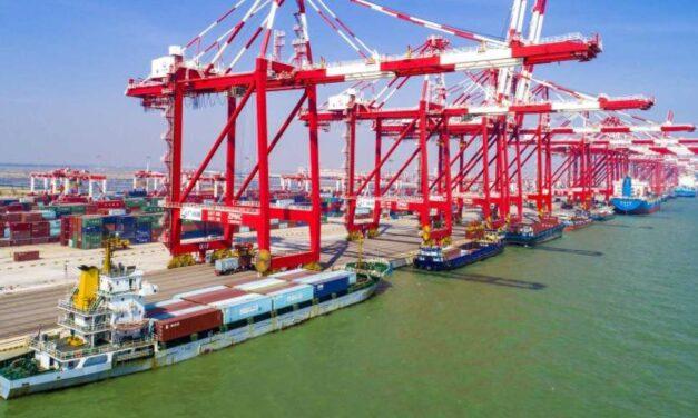 El volumen de contenedores en los principales puertos chinos aumentó un 8,5% a principios de agosto