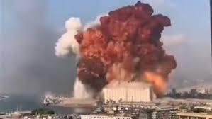 Gran explosión en el puerto de Beirut