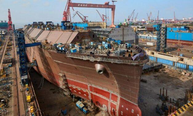 La producción de la construcción naval de China cae en los primeros siete meses del 2020