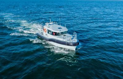 Lanzamiento de un nuevo barco de reconocimiento para la marina sudafricana
