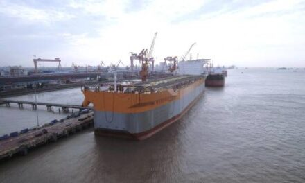 El astillero chino Shanghai Waigaoqiao Shipbuilding (SWS) ha entregado otro casco FPSO con destino a Guyana