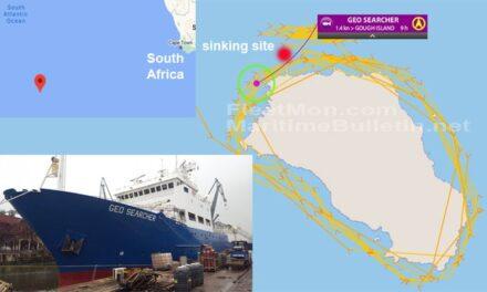 Buque de investigación se hundió en el Atlántico Sur y 62 tripulantes abandonaron el barco