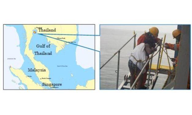 El buque Primrose Ace rescata a un náufrago en Tailandia