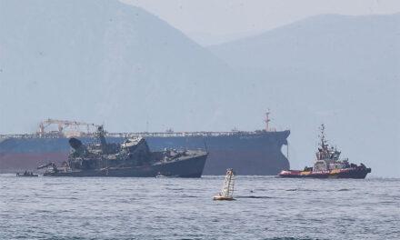 El capitán de un barco portugués fue arrestado por colisionar con un buque de la marina griega