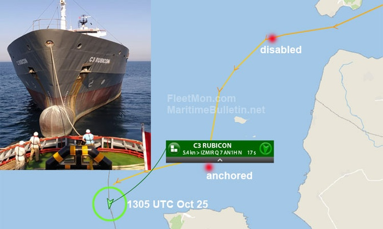 El buque de carga general C3 RUBICON sufrió un fallo de motor