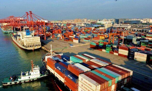 El volumen de los contenedores en los principales puertos chinos aumentó un 18,4% a principios de octubre