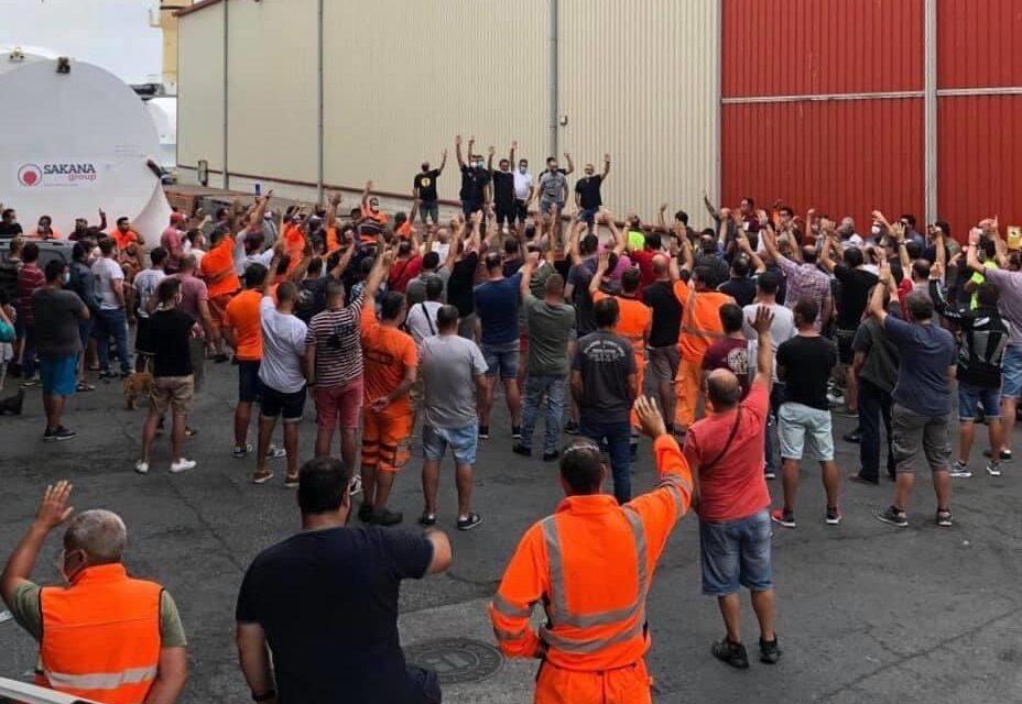 Los consignatarios de Bilbao se alinean con las empresas terminalistas en la huelga de la estiba