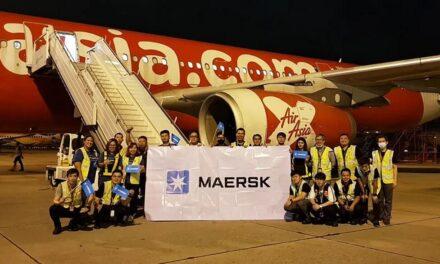 Maersk inicia servicios de transporte de carga aérea con chárter desde Tailandia a Japón