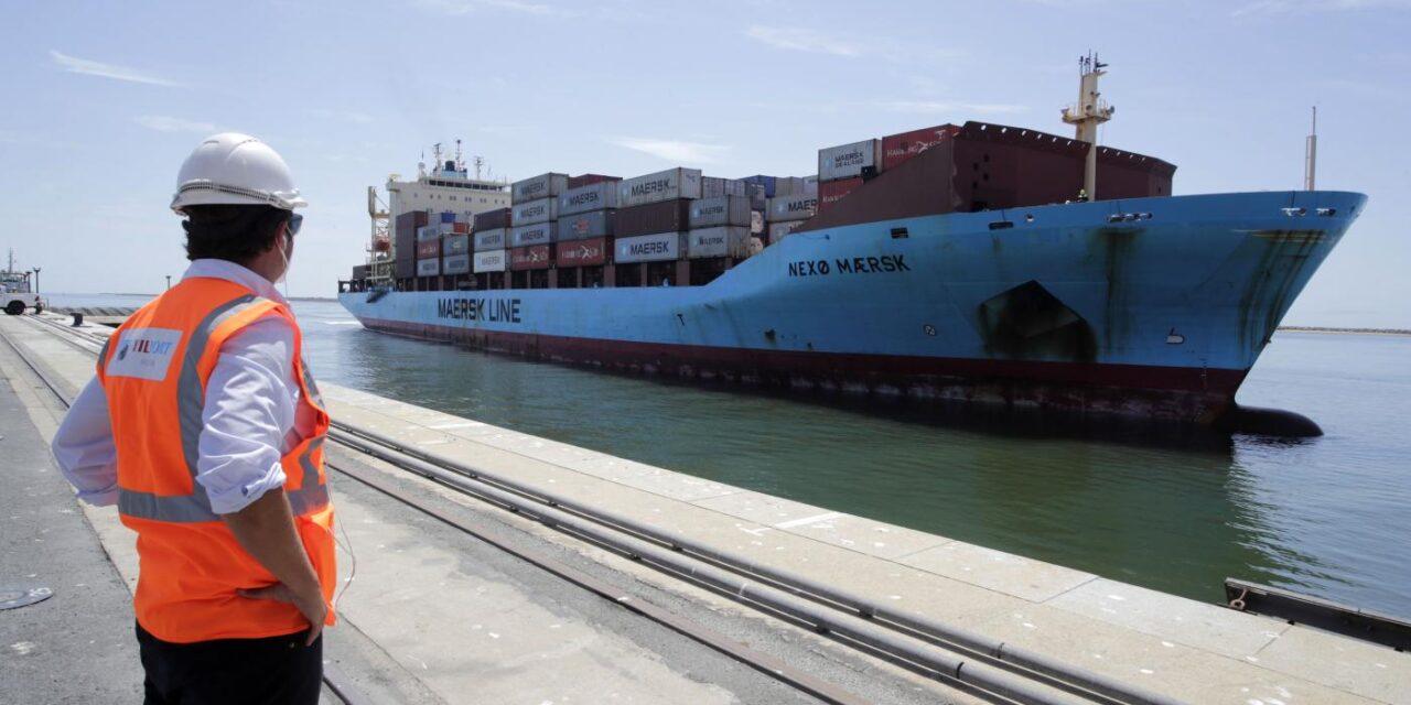 Maersk iniciará en noviembre una línea marítima semanal desde el puerto de Huelva