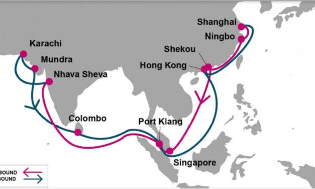 ONE lanzó un nuevo servicio China – India – Pakistán