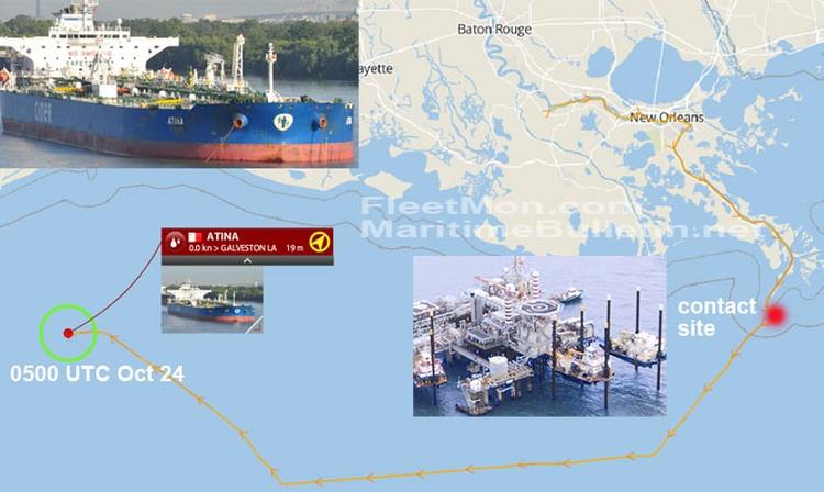 Un buque tanque turco Suezmax detenido y demandado por 225 millones de dólares tras contactar con una plataforma en Estados Unidos