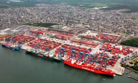 Puerto de Santos en Brasil marca récord para el mes de octubre con 383,933 TEUs movilizados