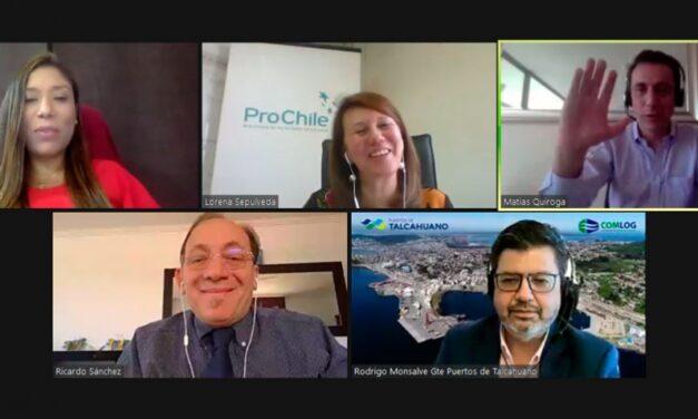 Puertos de Talcahuano, Pro Chile, Cepal y Maersk analizaron el impacto de la pandemia en la digitalización del COMEX