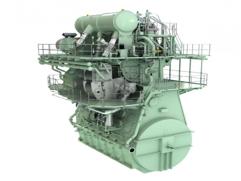 Se ofrece sistema EGR para reducir emisiones NOx de su motor ME-GA de doble combustible