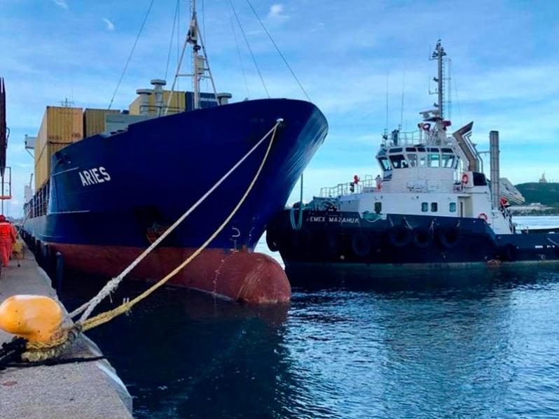 México: carga portuaria cae 13% en octubre respecto a 2019