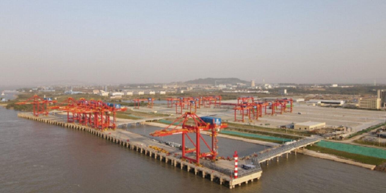 Comienza a funcionar la mayor terminal de contenedores de Jiangxi, China