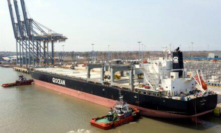 DP World Posorja de Ecuador realiza descarga de 6.000 toneladas de graneles