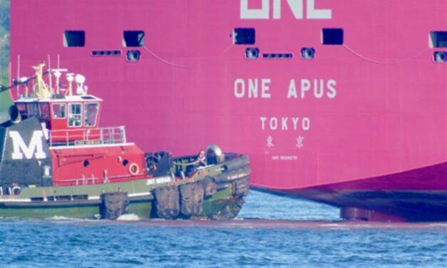 Buque ONE APUS sufre colapso de contenedores mientras navegaba rumbo al puerto de Long Beach