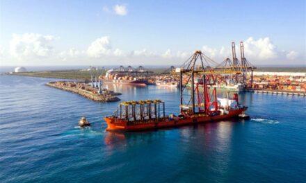 DP World Caucedo de República Dominicana recibe cuarta grúa STS de ZPMC