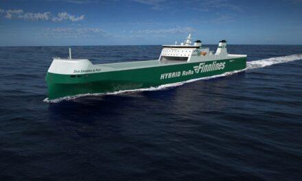China: Comienzan los trabajos del tercer Ro-Ro hibrido  de Finnlines