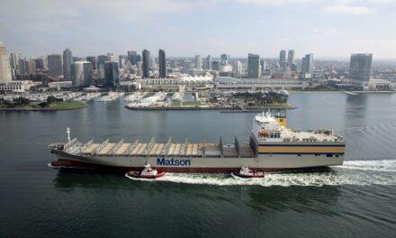 Matson inc recibe al M/V  Matsonia, completando la renovación de la flota de Hawai