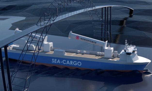 Norsepower instalará 5 velas de rotor basculante en un nuevo granelero de gran tamaño