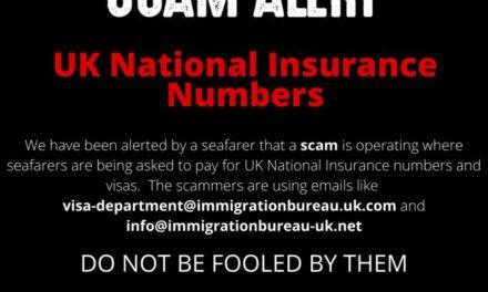 Alerta de estafa: Se pide a los marinos que paguen 630 libras por el número de seguro como parte de la oferta de trabajo