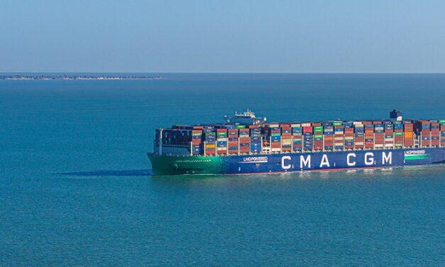 CMA CGM registrará con bandera francesa a cinco nuevos portacontenedores propulsados por GNL