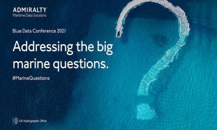 La Oficina Hidrográfica del Reino Unido acogerá la conferencia virtual ADMIRALTY Blue Data el 26 de enero de 2021