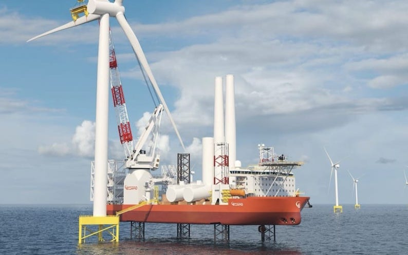 Scorpio Bulkers deja el sector del transporte marítimo a granel seco, por proyecto de energía eólica maritima