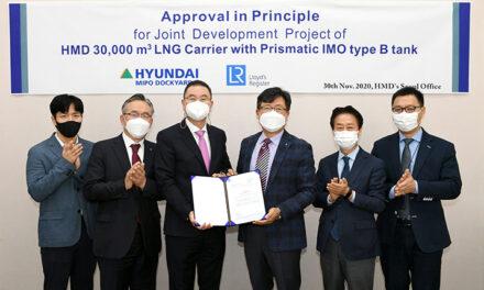 Lloyd's Register adjudica AiP a Hyundai por el transporte de 30.000 metros cúbicos de GNL