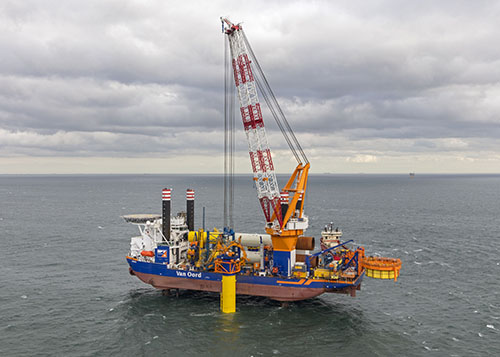 Van Oord instalará monopilotes, cables intermoldeados en el parque eólico costa afuera de Sofía