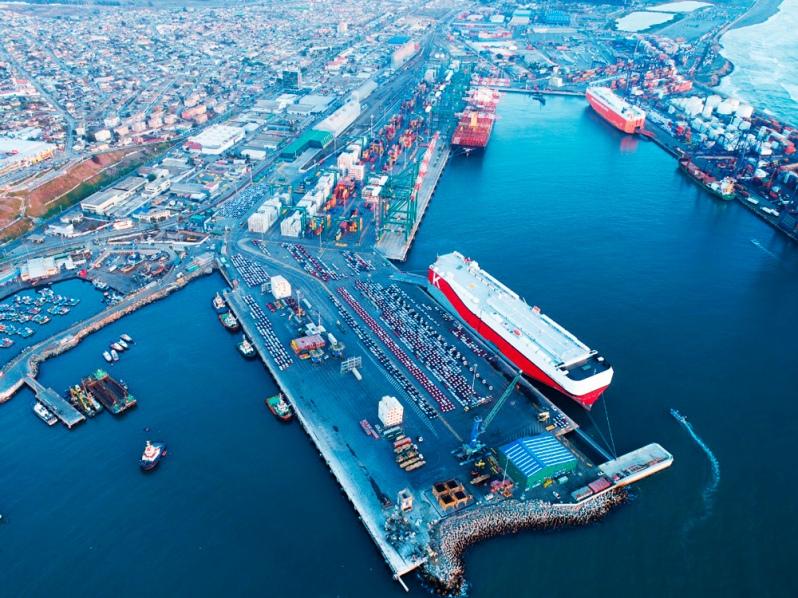 Puerto San Antonio, Chile:  Cerca de 159 mil autos fueron descargados en 2020