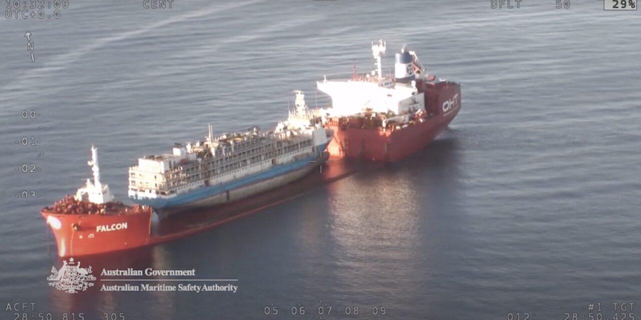 Australia tiene un buque para el transporte  de ganado no apto para navegar, junto con una prohibición de 2 años