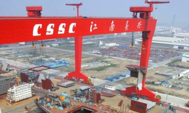 China recupera el título de la primera nación constructora de barcos del mundo, superando a Corea del Sur