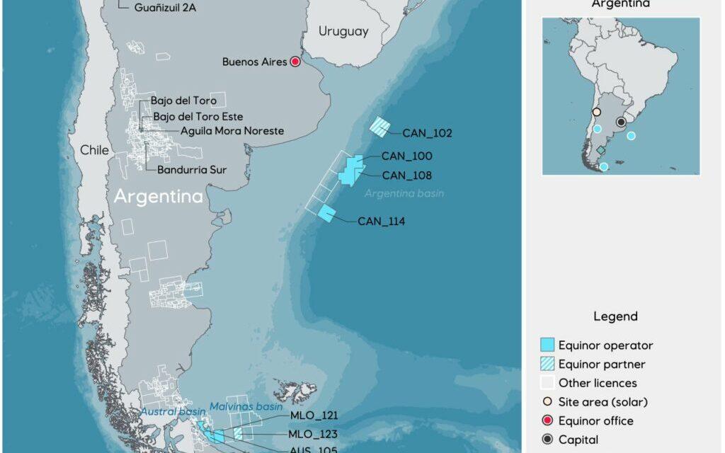 Shell se une a Equinor e YPF en el bloque de Argentina