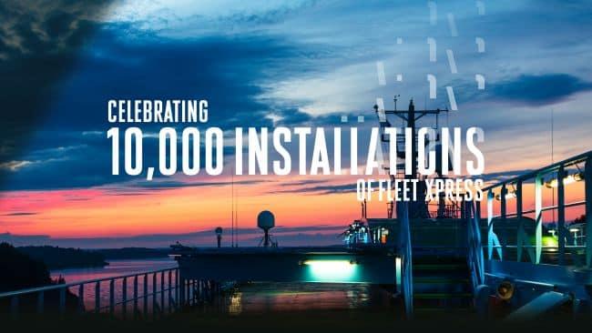 Inmarsat supera el hito de la instalación de 10.000 buques Fleet Xpress mientras la demanda de datos acelera la digitalización marítima