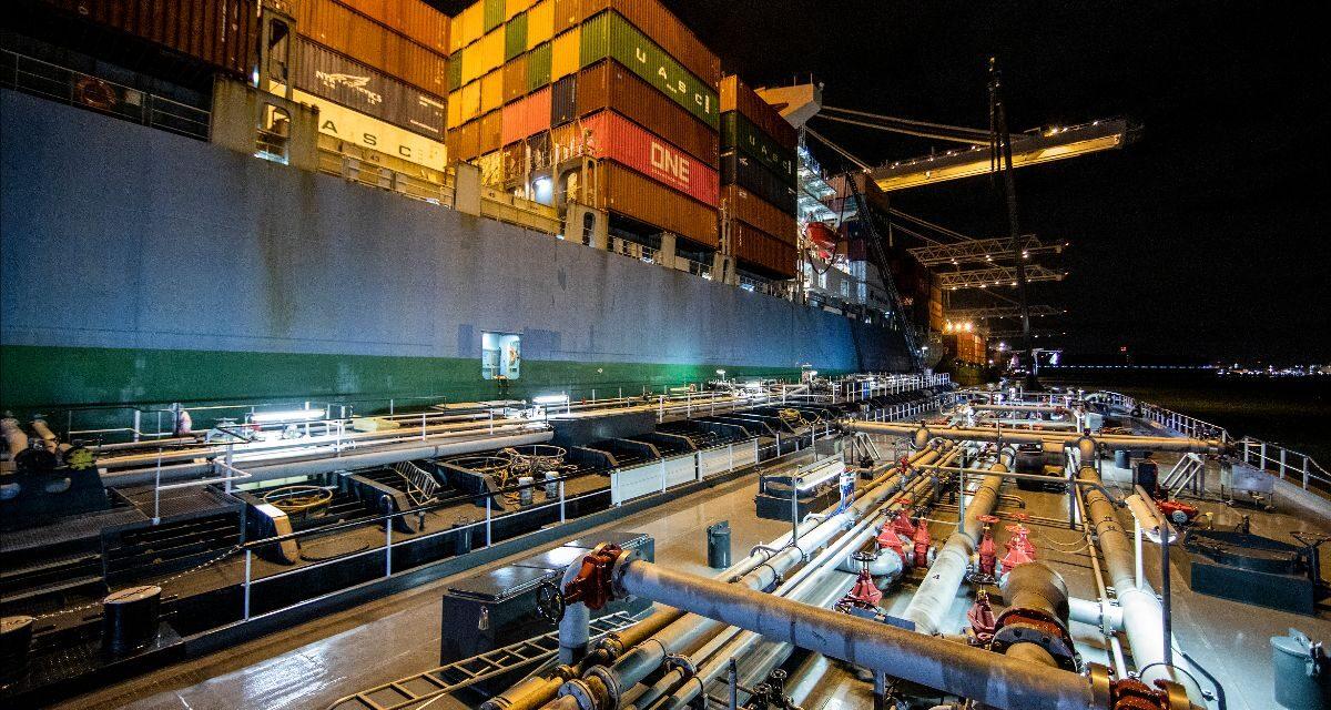 ONE Containership prueba el uso de biocombustible marino sostenible